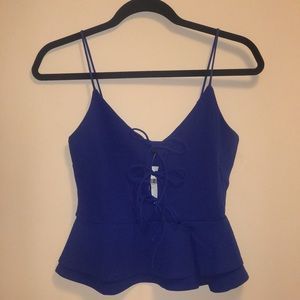 Peplum Top With Bows